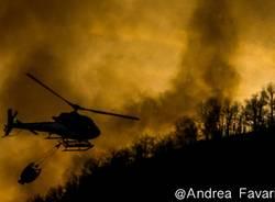 Incendio sulla Martica, foto di Andrea Favarin
