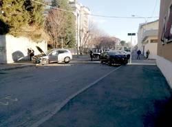 Incidente all'incrocio tra via Bergamo e Treviglio