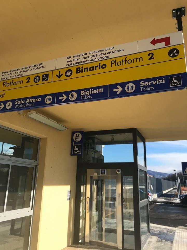 La stazione Gaggiolo-Cantello