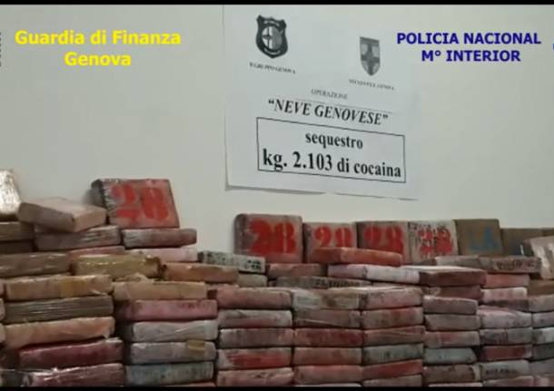Sequestro record di cocaina per la Guardia di Finanza