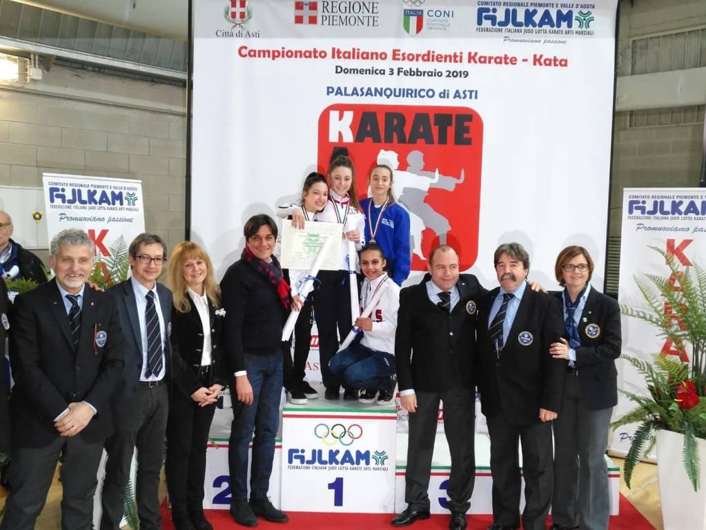 24° CAMPIONATO ITALIANO FIJLKAM – KATA ESORDIENTI - ROBERTA DOMINICI dello SKORPION KARATE ASD è la nuova Campionessa Italiana 2019