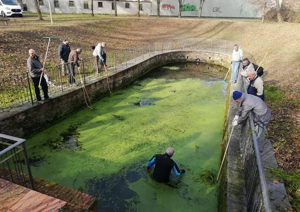 Gerenzano, grandi pulizie al Fontanile di San Giacomo