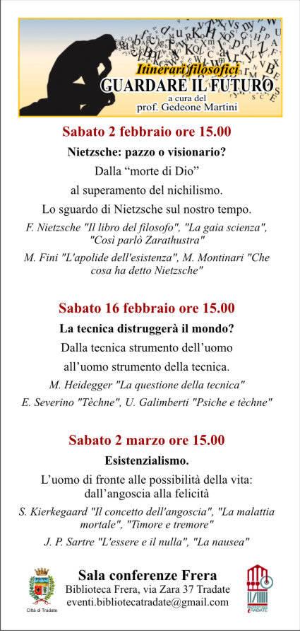"""Itinerari filosofici : """"guardare il futuro"""" a cura di Gedeone Martini"""
