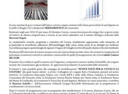 #RIDIAMOVOCE ALL\'ANTICO CARRERA - concerto d\'inaugurazione dell\'organo della parrocchiale di Cabiaglio