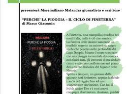"""2° Rassegna Autori ceresini: presentazione del libro \""""Perché la pioggia\"""" di Marco Giacomin"""