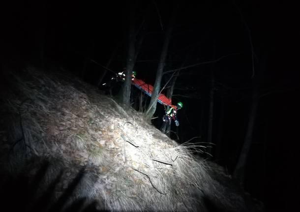 Esercitazione notturna del Soccorso Alpino