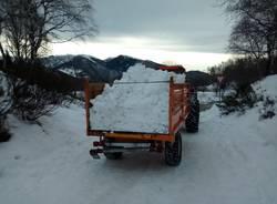 """Forcora, la neve del """"parcheggione"""" posata sulle piste"""