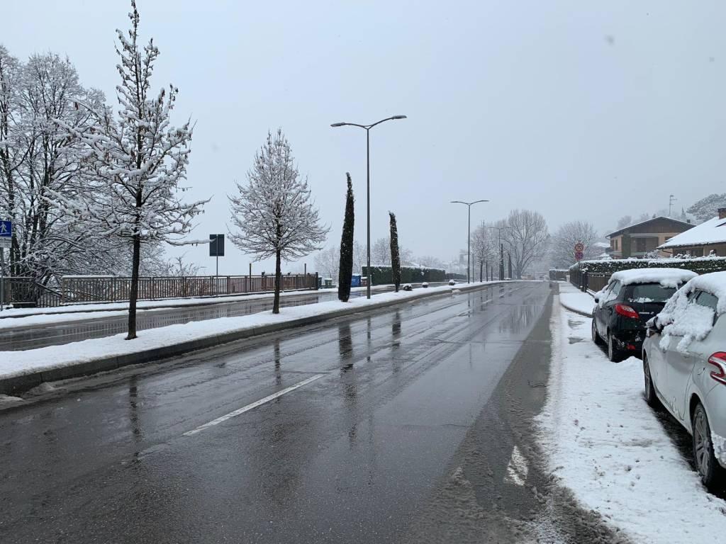 Le strade di Varese - neve del primo febbraio