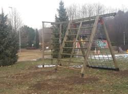 Nuovi giochi al parco di Buguggiate