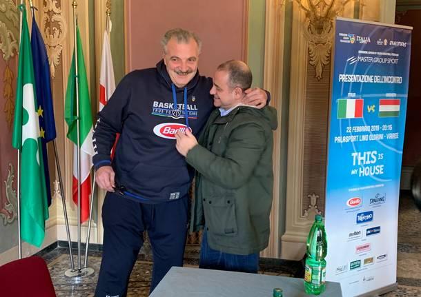 L'Italbasket sbarca a Varese