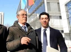 Renzo Bossi con il papà Umberto
