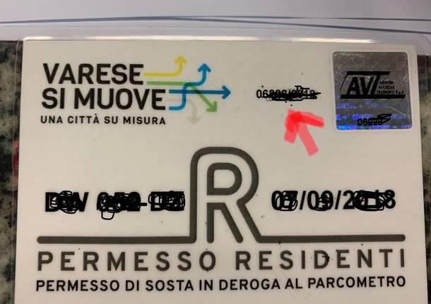 Varese si muove, la vetrofania per i residenti