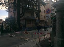 caduta del tetto del Circolino in via Sant'Imerio