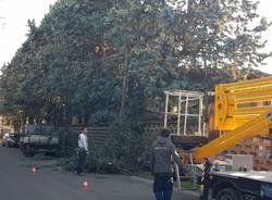 Maltempo: danni del vento tra Saronno e Caronno