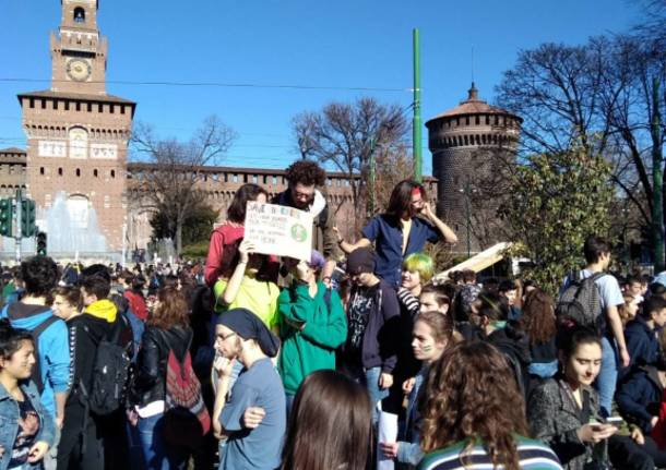 Friday for future, la manifestazione di Milano