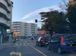 Il nuovo semaforo all'ex Enel