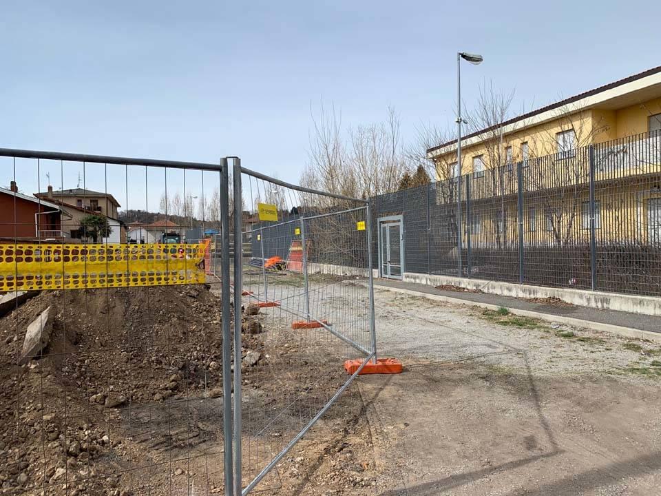 Induno Olona - Il cantiere della nuova caserma dei Carabinieri