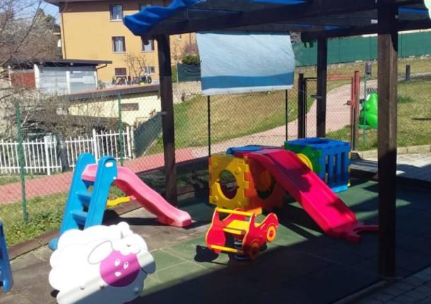 Nuovi giochi all'asilo nido di Buguggiate