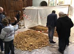 Scavi archeologici nella chiesa di Abbiate