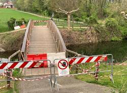 Divieto di accesso al ponte sul Bardello