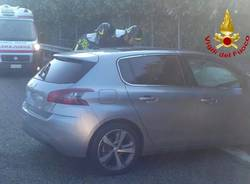 L\'incidente stradale sul raccordo autostradale