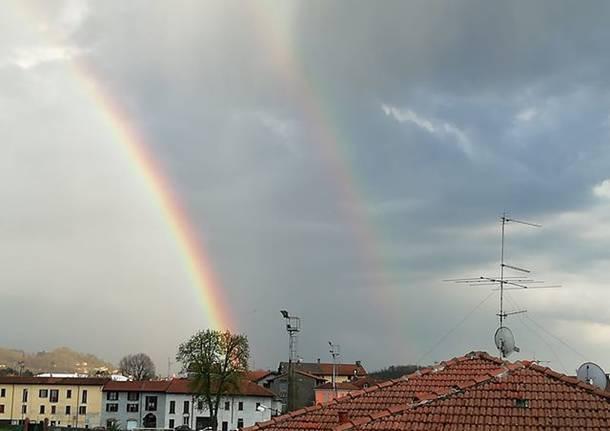 Doppio arcobaleno a Cocquio Trevisago