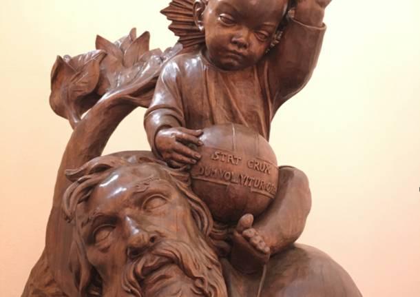 statua San Cristoforo con il Bambino