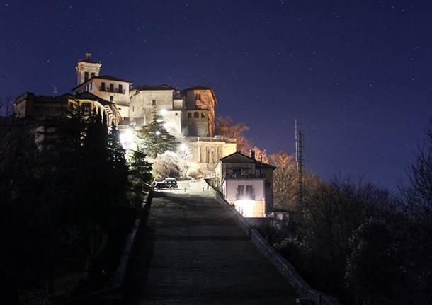 Il Sacro Monte di notte