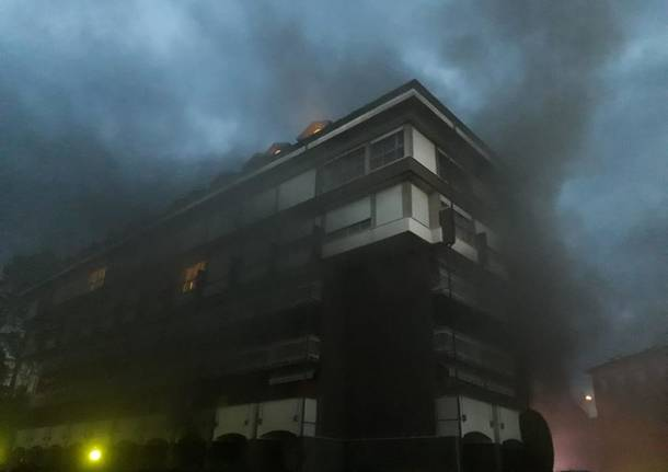 Incendio alla Verbanetta