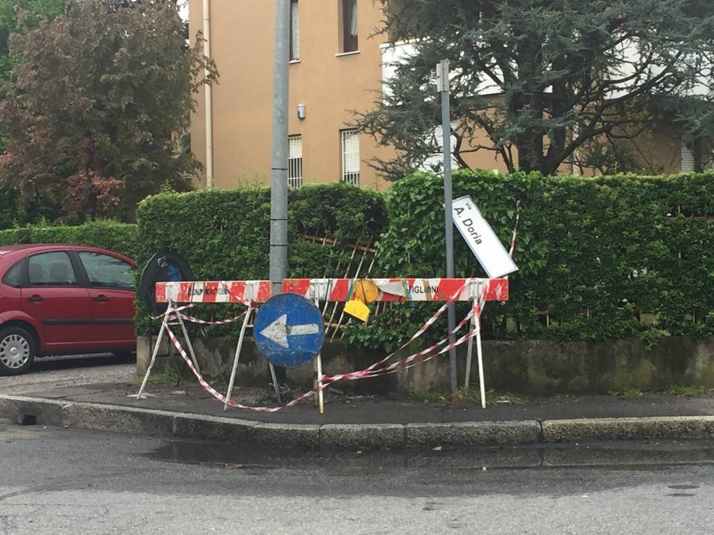 Incidente via Montenero Gallarate
