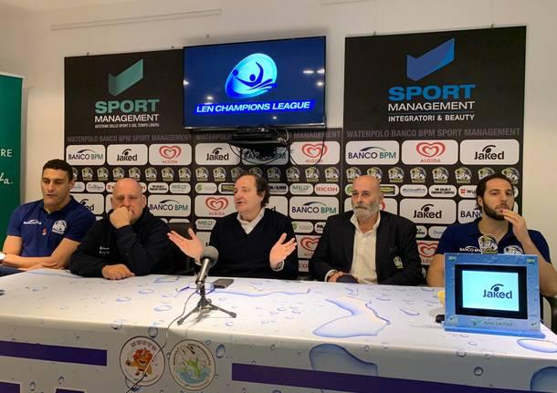 presentazione pallanuoto busto champions league
