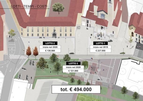 progetto nuova piazza albizzate