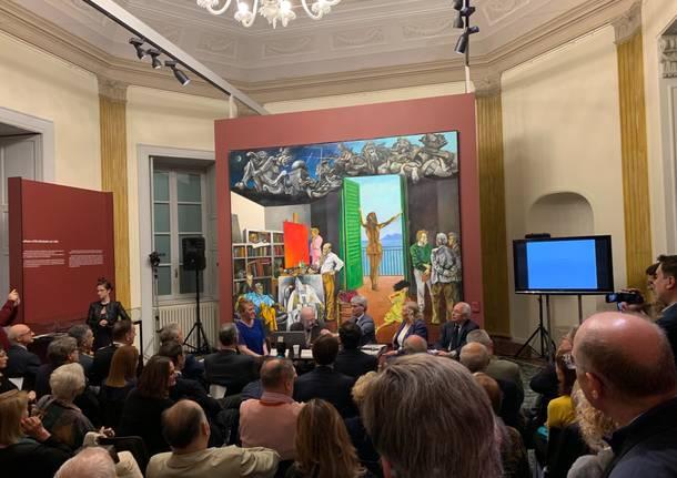 L'inaugurazione della mostra di Renato Guttuso a Varese