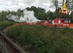 Incendio generatore Vergiate