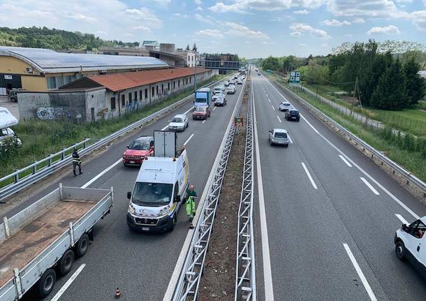 Incidente stradale autostrada A8 Gazzada