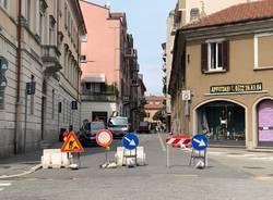Lavori in via Indipendenza a Varese