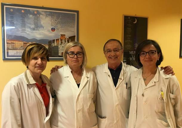 Professor Bartalena e sua equipe