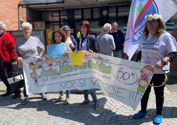 protesta educatrici asilo nido soldini 2019