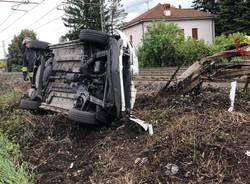 ribaltamento incidente gallarate