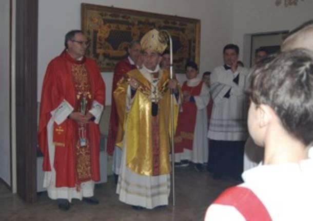 visita monsignor delpini all'oratorio