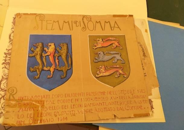 Nell'archivio comunale, alla scoperta della storia di Somma Lombardo