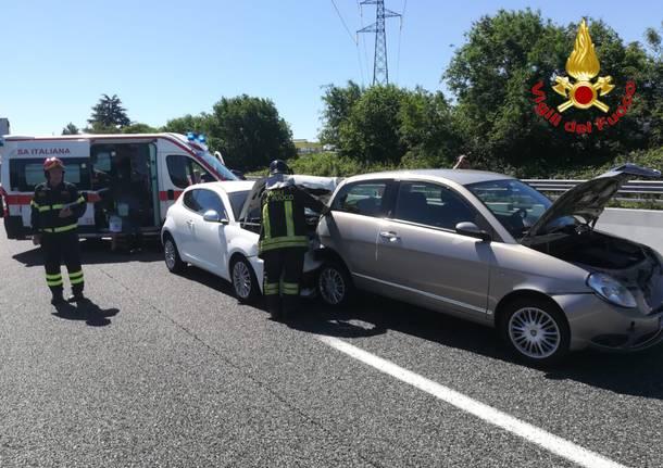 I due incidenti di domenica 16 giugno in A8 e in SS 336