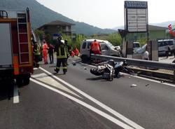 Incidente auto moto sulla statale