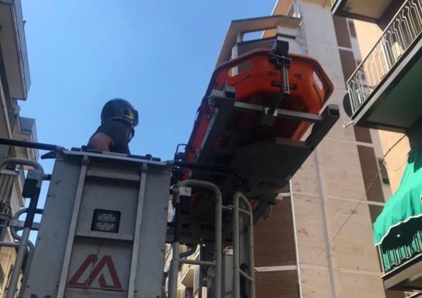 Intervento dei Vigili del Fuoco in Via Piave