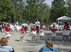 Saggio di allievi e majorettes al Parco degli Aironi