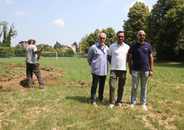 Saronno, nuovo percorso vita al parco Aquilone