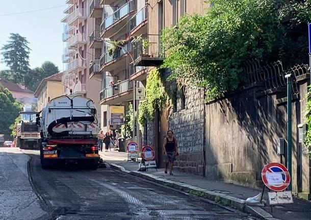 cantieri stradali per asfaltatura