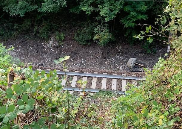 L'incidente sulla ferrovia a Castelveccana