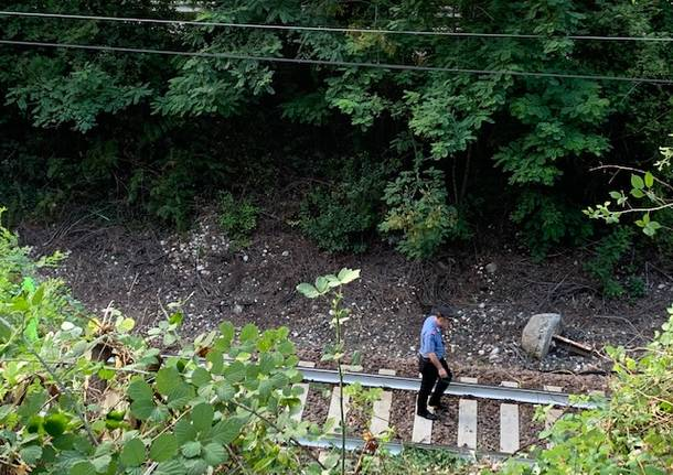 L\'incidente sulla ferrovia a Castelveccana