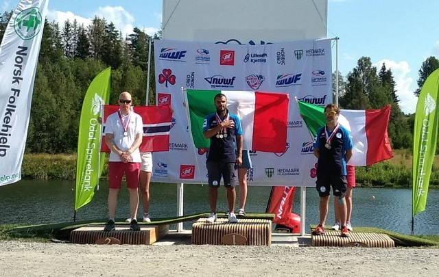 Daniele Cassioli ai Mondiali di sci nautico paralimpico